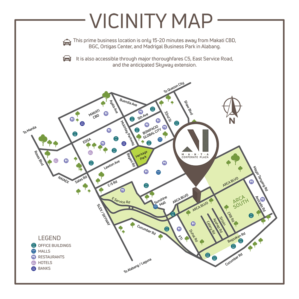 Manta Corporate Plaza Vicinity Map